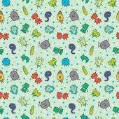 seamless virus pattern