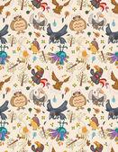 seamless bird pattern