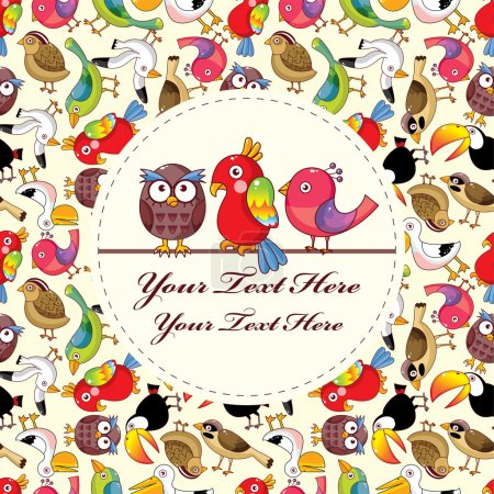 Cartoon bird card