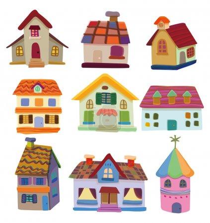 Illustration for Cartoon house icon - Royalty Free Image