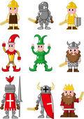 cartoon medieval icon