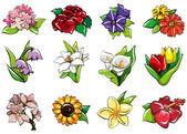 cartoon flower icon