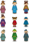 Cartoon Chinese icon set