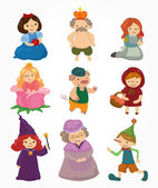 cartoon story icons set