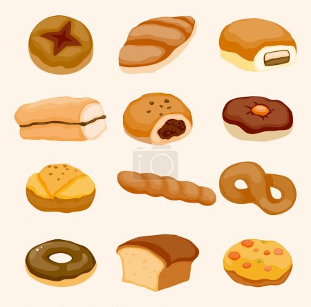 Illustration for Cartoon bread icon - Royalty Free Image