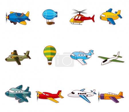 Illustration for Cartoon airplane icon - Royalty Free Image