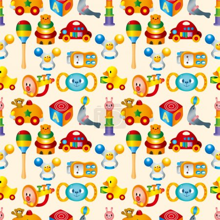 Illustration for Kid toy seamless pattern - Royalty Free Image