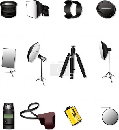 Illustration for Photographic equipment - Royalty Free Image