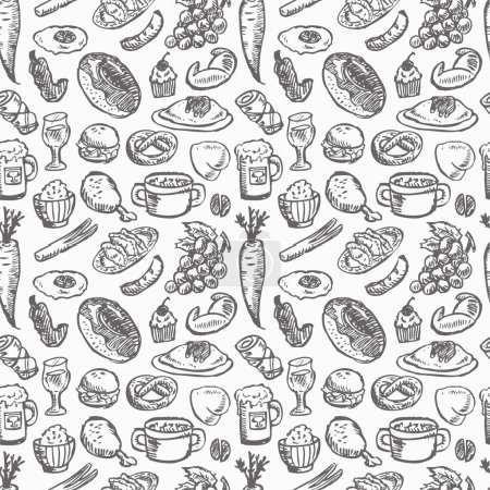 Illustration for Seamless food pattern - Royalty Free Image