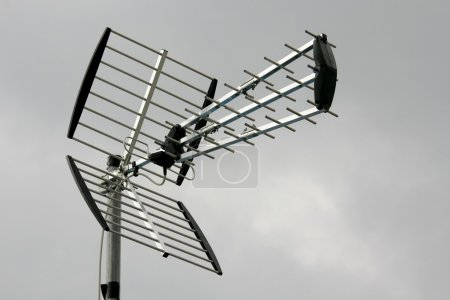 Photo for The aerial for terrestrial television broadcasting - Royalty Free Image