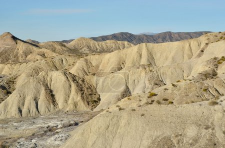 Badlands and deserts in South Europe