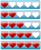 Five hearts review bars for rating