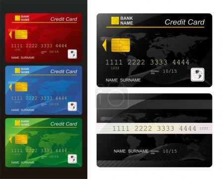 Jeu de cartes de crédit .
