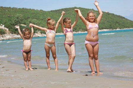 Photo for KIds on the sunny beach - Royalty Free Image
