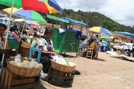 Mexican market in San Juan Chamula