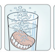 Cleaning denture instructions illustration from st...