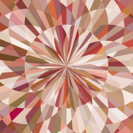 Illustration for Abstract background of decorative pattern with colorful floral style shapes. - Royalty Free Image