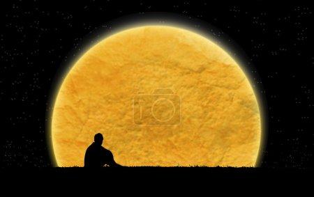 Alone in the dark night