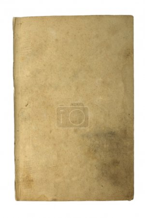 The page to the old book is isolated on a white background