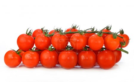 Photo for Cherry tomatoes isolated on white - Royalty Free Image