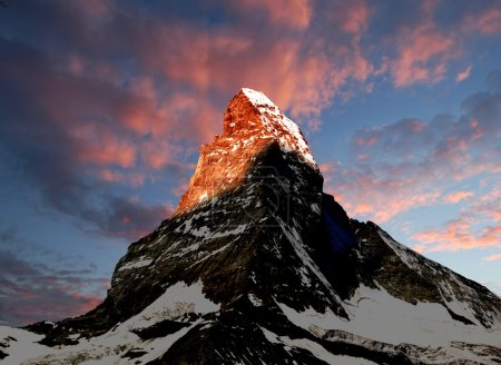 Photo for Sunrise on the Matterhorn - Swiss Alps - Royalty Free Image