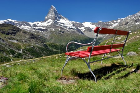 Photo pour Vue sur le Cervin - Alpes suisses - image libre de droit