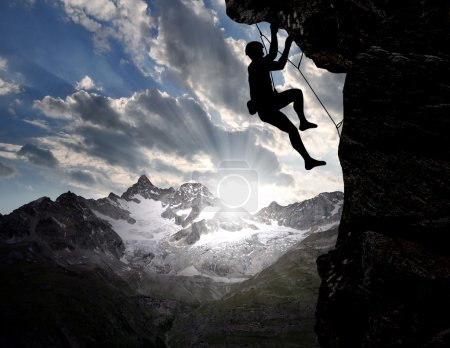 Photo for Climbers in the Swiss Alps - Royalty Free Image