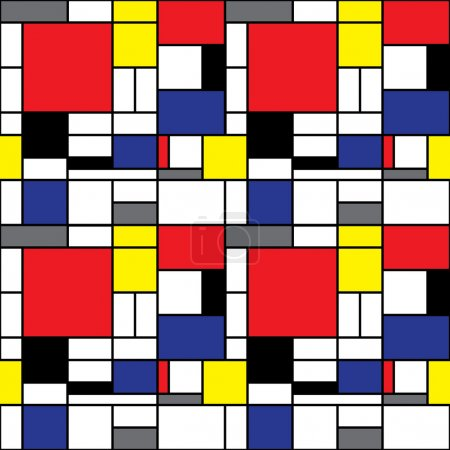 Illustration for Inspired by Modrian and De Stijl - Royalty Free Image