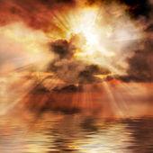 Velkolepý západ slunce pozadí
