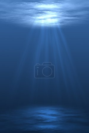 Photo for Digital illustration of underwater setting with air bubbles - Royalty Free Image