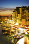 Grand Canal at night, Venice. Italy
