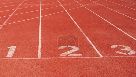 Photo for Running track starting line - Royalty Free Image