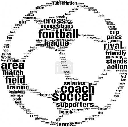 Football ball tagcloud