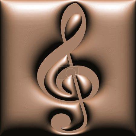 Chocolate treble clef