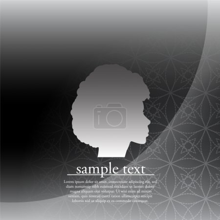 Vector Illustration of Afro Beauty with Modern Abstract Backgrou