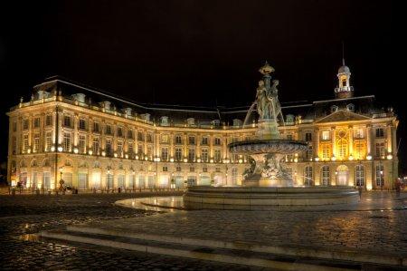 Photo pour La place de la bourse, bordeaux, aquitaine, france - image libre de droit