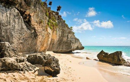 Photo pour L'incroyable plage de Tulum, Riviera Maya, Mexique . - image libre de droit