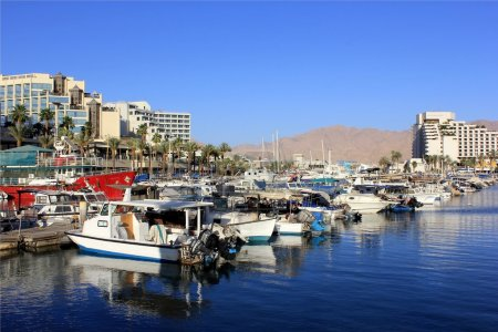 Parking yachts in Eilat, Israel