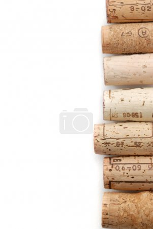 Corks over white