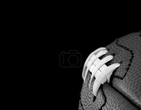 Photo pour Football B & W - image libre de droit