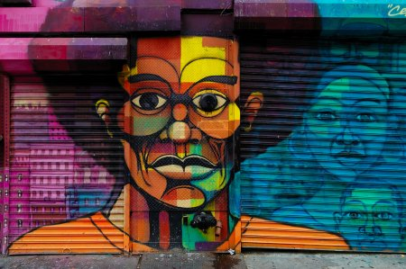 Graffiti art in Harlem, NYC