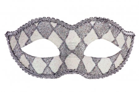 Decorated with mother of pearl original carnival mask