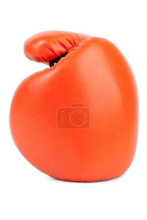 Orange boxing glove closeup
