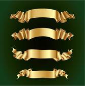 Golden Ribbon banners set