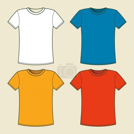 Illustration pour Modèle de t-shirts colorés. Illustration vectorielle - image libre de droit