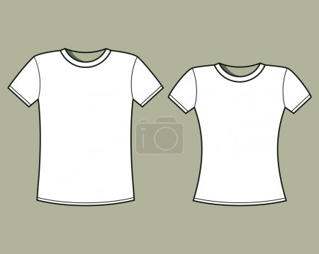 Blank t-shirts template