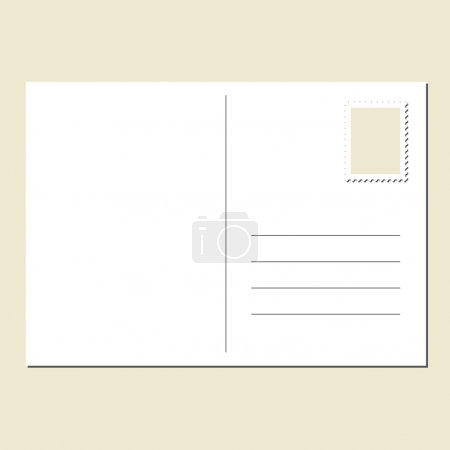 Illustration for The back of blank postcard - Royalty Free Image