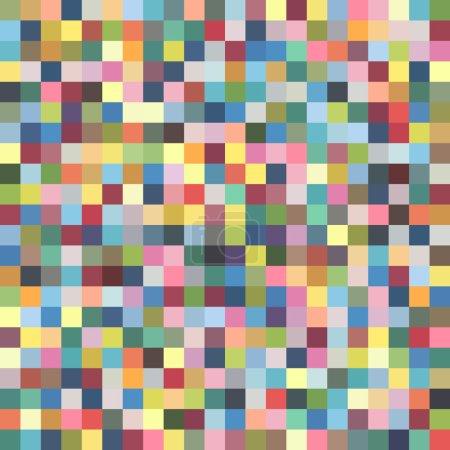 Illustration pour Modèle de pixel coloré - illustration vectorielle - image libre de droit