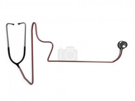 Stethoscope chair shaped isolated on white background