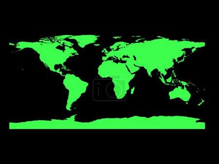 Photo pour Carte du monde noir et vert - image libre de droit